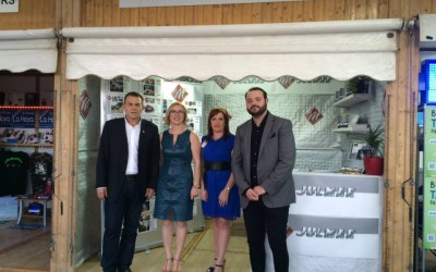 Autoridades en la Inauguración de la X Feria de Comercio