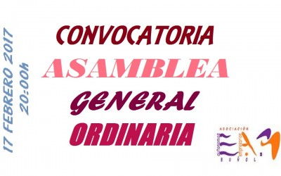 Convocatoria Asamblea General Ordinaria 2017