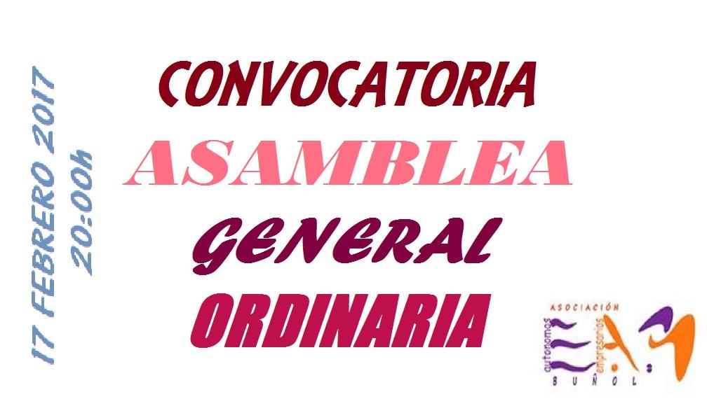 Convocatoria Asamblea General Ordinaria 2017
