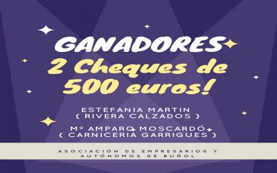 Ganadores de los 2 cheques de 500€