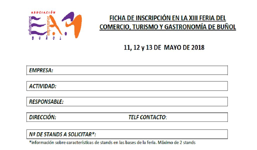 Abierto plazo para inscripción en la XIII Feria de Comercio y Turismo